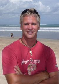 Trevor on a beach